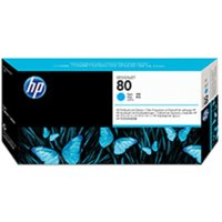 HP 80 Printhead plus Cleaner Cyan, Cyan at Ryman Stationery