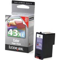 Lexmark 43XL Inkjet Cartridge, Colour