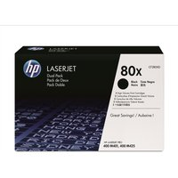 HP 80X Dual Pack Toner Black, Black