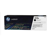 HP 312X High Yield Black Original LaserJet Toner Cartridge CF380X, Black