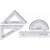 Helix Oxford Geometry Set 4 Piece, Clear at Ryman Stationery