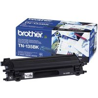 Brother TN135BK Printer Ink Toner Cartridge, Black