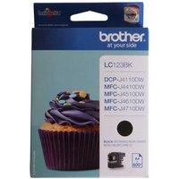 Brother LC123 Ink Black Cartridge, Black