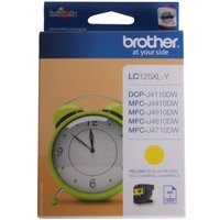 Brother LC125XL Ink Cartridge, Yellow