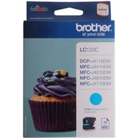 Brother LC123 Ink Colour Cartridge, Cyan
