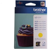Brother LC123 Ink Colour Cartridge, Yellow
