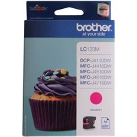 Brother LC123 Ink Colour Cartridge, Magenta