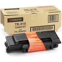 Kyocera TK310 Printer Toner Cartridge Kit, Black