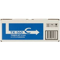 Kyocera TK560C Printer Toner Cartridge, Cyan