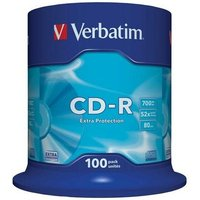 Verbatim CD-R 52x Spindle Pack of 100, 52x
