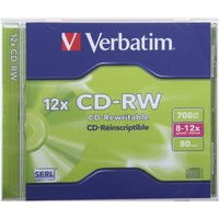 Verbatim CD-RW Jewel Case Single