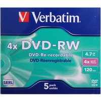 Verbatim DVD 4.7GB Pack of 5, none