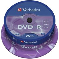 Verbatim DVD 16x Spindles 4.7GB Pack of 25