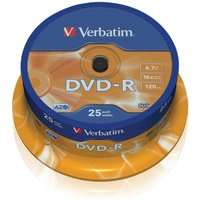 Verbatim DVD-R 16x Spindles 4.7GB Pack of 25