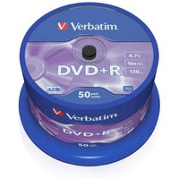 Verbatim DVD 16x 4.7GB Spindles Pack of 50, DVD 16x