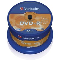 Verbatim DVD-R 16x 4.7GB Spindles Pack of 50, none