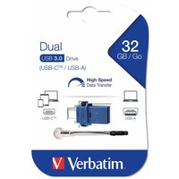Verbatim Dual USB 3.0 Flash Drive for USB-C