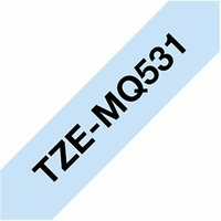 Brother TZEMQ531 P-Touch Label Tape Black on Pastel Blue