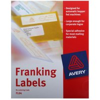 Avery Franking Labels Auto Hopper 140x38mm  Pack of 1000