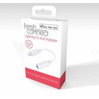 Fresh Connect 3.5mm AUX out to Lightning 10cm Adapter, White