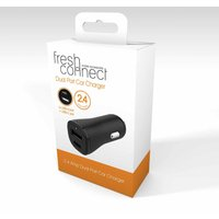 Fresh Connect In Car Charger with Type C and USB-A Output, Black
