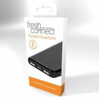 Fresh Connect 8000mAh Portable Powerbank, Black