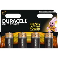 Duracell Plus Power C Batteries Pack of 4