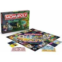 Rick and Morty Monopoly Board Game, White