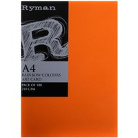 Ryman Artcard A3 210 gsm Pack of 100, Rainbow