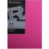 Ryman ArtCard A4 210gsm Pack of 200 Bright, Bright