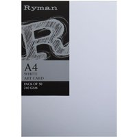 Ryman ArtCard A4 210gsm Pack of 200 White, White