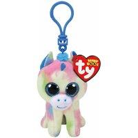ty Blitz Unicorn Beanie Boo Clip Keyring