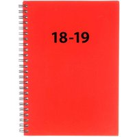 Ryman Student Diary A5 Week to View Mid-Year 2018-2019, Red