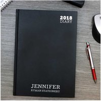 Langham by Ryman Personalised 2018 Diary A5 Week to View, Black