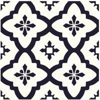Comet Peel and Stick Floor Tiles, Black/White