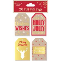 Click to view product details and reviews for Kraft Foil Christmas Gift Tags Pack Of 20.