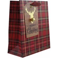 Click to view product details and reviews for Metallic Tartan Christmas Gift Bag Medium.