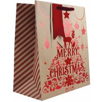 Click to view product details and reviews for Velvet Reindeer Christmas Gift Bag Medium.