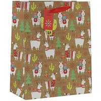 Click to view product details and reviews for Christmas Llama Gift Bag Large.