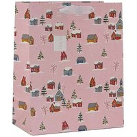 Click to view product details and reviews for Christmas Snowy Village Gift Bag Large.