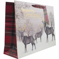 Click to view product details and reviews for Seasons Greetings Christmas Gift Shopper Bag Large.