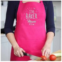 Personalised Star Baker Pink Apron