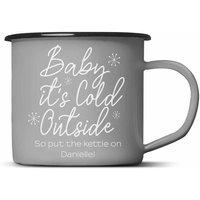 Personalised Baby Its Cold Outside Mug Grey