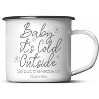 Personalised Baby Its Cold Outside Mug White