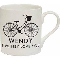 I Wheely Love You Female Bike Personalised Mug