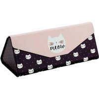 Legami See You Soon Foldable Glasses Case Meow, Black and white