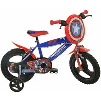 Captain America 16 Inch Wheel Childrens Bicycle, Blue