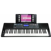 RockJam RJ461 61 Key Portable Electronic Keyboard with Power Supply Music Stand and Simply Piano App