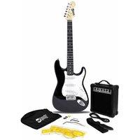 RockJam RJEG02 Full Size Black Electric Guitar Super Kit with 10 Watt Amp