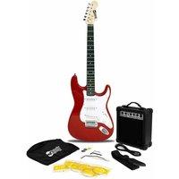 RockJam RJEG02 Full Size Red Electric Guitar Super Kit with 10 Watt Amp